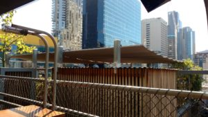 Pleated Patio Blind, Guide Wires, Rooftop Bar, CBD (1)
