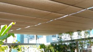 Pleated Patio Blind, Guide Wires, Rooftop Bar, CBD 2